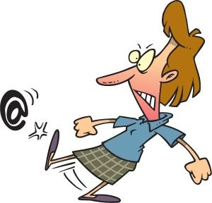 Kicking-email-symbol