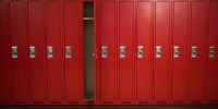 row of lockers